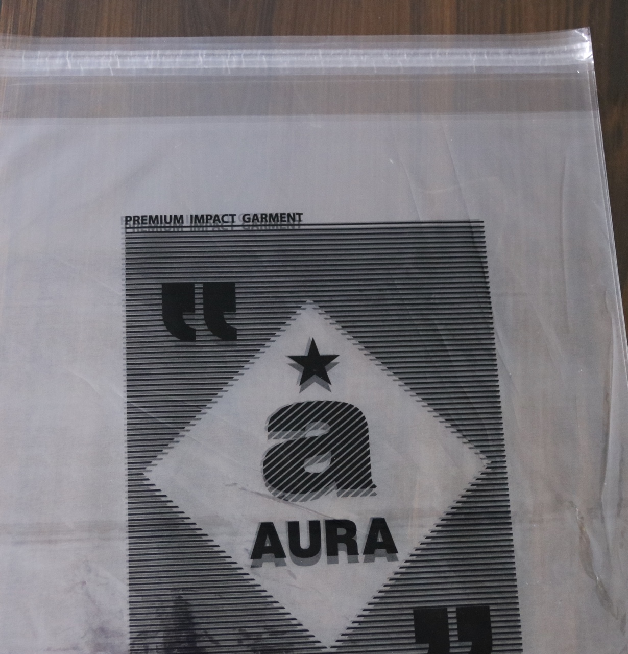 Printed PP bags with adhesive